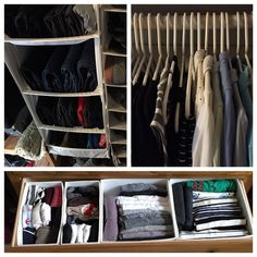 According to Kondo, a well-organized closet should be able to hold many belongings.