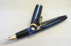 A simple Montblanc pen to go with the Moleskine journal - this is the 256 fountain pen :)