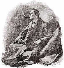 Sherlock Holmes by Sidney Paget. Looks exactly like Basil Rathbone!!