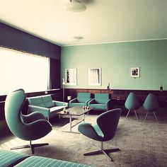 SAS Hotel  Room 606 by Arne Jacobsen - take inspiration from the 1950s!