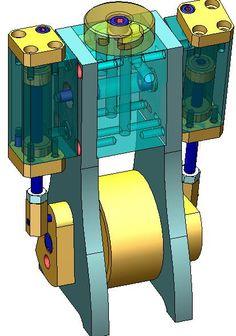 Mechanical Design, Mechanical Engineering, Mini Steam Engine, Magic Tricks Videos, Go Kart Buggy, Steam Turbine, Wow Video, Steam Locomotive, Technical Drawing