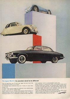 Jaguar Print Ad #jaguar #cars #vintage #classic #luxury #print #advertisement #bennettjlr