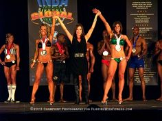 Fitness Models & competitors Tiziana Vellotti Temple (left) and Jennifer James (right) at the INBA Ontario Championships, April 27, 2013. Fit & sexy ladies indeed!