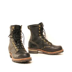 size 8 PLATFORM black leather 60s OUTDOOR by 20twentyvintage, $75.00