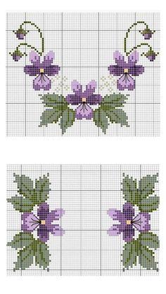 Cross Stitch Heart, Simple Cross Stitch, Cross Stitch Borders, Cross Stitch Animals, Cross Stitch Flowers, Cross Stitch Designs, Cross Stitching, Cross Stitch Embroidery, Hand Embroidery