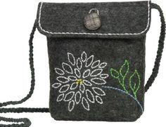 Dimensions Needlecrafts Feltworks Embroidery, Mum Purse - the kit is polyester felt. easy enough to make it with wool felt... seems like a good sewing project.