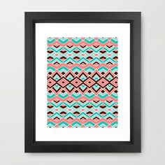Eclectic Framed Art Print by Pom Graphic Design  - $35.00 #chevron #print #poster #home #decor #decorideas #interiordesign #Forthehome #girly #homeliving