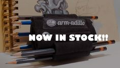 A artistically fashionable Pencil Holder. You can strap it to your arm or sketchbook. Check it out at: http://www.arm-adillo.com #pencilholder #anime #art #animedrawing #drawings #sketchbook #moleskin #leather #dbz #pokemon #artist #armband #guy #girl #fashion