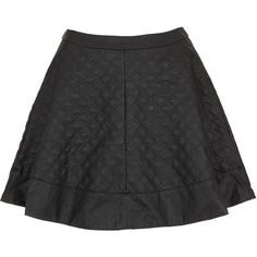 TOPSHOP Petite Quilted Skater Skirt (€34) ❤ liked on Polyvore featuring skirts, black, petite, topshop skirts, flared skirt, petite skirts, skater skirt and quilted skater skirt