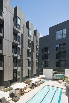 SPF:architects (SPF:a) is excited to announce the completion of The Line Lofts, an residential building located in one of Los Angeles' most active development corridors Lofts, Mix Use Building, Old Building, California Apartment, Los Angeles Skyline, Apartment Plans, Apartment Living, Urban Apartment, Ground Floor Plan
