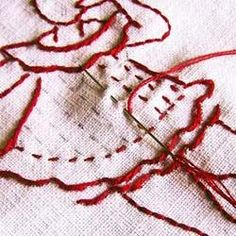 Basic embroidery stitches all in one place.  Well-organized with interesting history lessons, too.