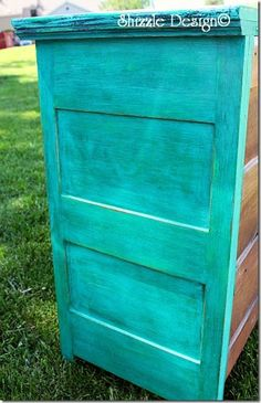 Painted furniture vintage planks solid woof hand painted dresser by Shizzle Design American Chalk and Clay paints Michigan Surfboard, Beach ...