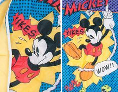 Mickey Mouse sleeping bag. Oh the memories!