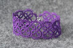 Delicate purple lace bracelet