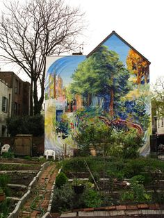 street art outside Cake and the Beanstalk on Locust in Washington Square West in Philly! Love this place!
