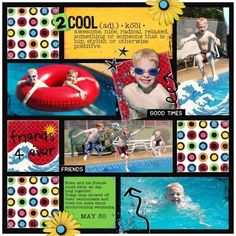 color blocking/ square layout page Vacation Scrapbook, Kids Scrapbook, Disney Scrapbook, Scrapbook Paper Crafts, Scrapbook Cards, Scrapbook Photos, Christmas Scrapbook, Scrapbook Layout Sketches, Scrapbooking Layouts