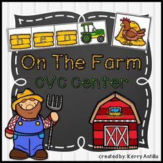 *FREE* On the Farm CVC Center- matching CVC words and pictures