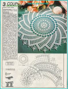 patterns and motifs crocheted motif Filet Crochet, Crochet Doily Diagram, Crochet Doily Patterns, Crochet Art, Crochet Round, Crochet Home, Thread Crochet, Irish Crochet, Crochet Table Runner