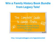Win a Family History Book Bundle from Legacy Tale