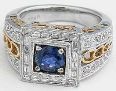 This finely detailed ring is especially for those who adore bold and dramatic jewelry. Found at MyJewelrySource.