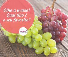 A uva é conhecida por muitos benefícios. Você sabia que ela é ótima para a saúde dos olhos? A fruta ajuda a evitar a catarata e a perda da visão.  #dicaCampesí