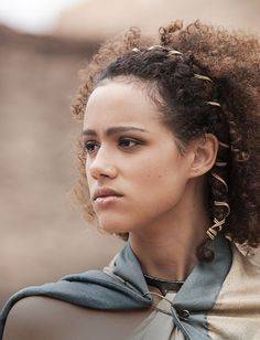 Nathalie Emmanuel portrait as Missandei for Game of Thrones. (via Game of Thrones)