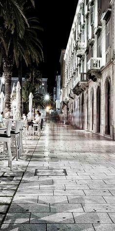 The boardwalk, Split, Croatia Dalmatia Croatia, Dubrovnik Croatia, Visit Croatia, Croatia Travel, Montenegro, Dubrovnik Split, Places To Travel, Places To See, Monuments