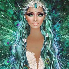 💯💯💯💖 Para seeing that cacheadas age crespas, dormir sem desmanchar the cachos parece até Fantasy Art Women, Beautiful Fantasy Art, Fantasy Girl, Beautiful Artwork, Covet Fashion, Fashion Art, Fairy Wallpaper, Fairy Pictures, Unicorn Art
