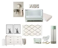 """Mint nursery"" by hanli29 on Polyvore featuring interior, interiors, interior design, home, home decor, interior decorating and Pottery Barn"