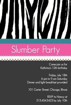 girls slumber party invites | Sizzlin' Summer Party Invitations l PurpleTrail