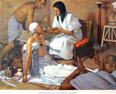 A painting from a series made for schools of the history of the medical profession Poster Print by Robert Thom 18 x 24