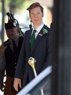 'Sherlock' star Benedict Cumberbatch is primed and ready in costume as politician Billy 'The Corrupt Midget' Bulger as he arrives on the set for his first day of filming of 'Black Mass' in Boston, Massachusetts on June 23,