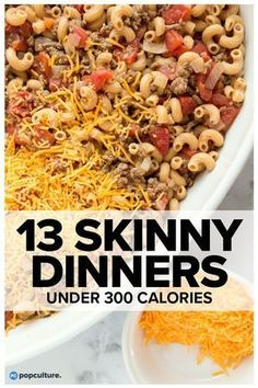 13 Skinny Dinners Under 300 Calories. Use this collection of low-calorie dinners to inspire your weekday meal planning. As always, taste comes first, so we've pulled together our best recipes that are big on flavor and well-portioned. These recipes a Healthy Drinks, Healthy Dinner Recipes, Diet Recipes, Healthy Snacks, Low Calorie Recipes Crockpot, Smoker Recipes, Low Calorie Chicken Meals, Fast Healthy Dinners, Low Calorie Low Fat Recipes