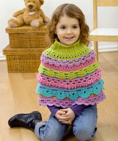 Girl's Ruffle Capelet... going to make for my youngest daughter