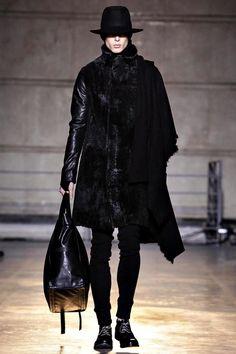 André Bona walks for Boris Bidjan Saberi autumn/winter 2014 at Paris Fashion Week