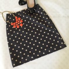"""Flash SaleBoden Dot Print Pencil Skirt super cute dark charcoal and tan dot print pencil skirt from Boden. Features side zipper and is fully lined. size 2 US or 6UK. waist is approx. 12.5"""" and length is 18.5"""". very good pre-loved condition with very light wash wear. skirt is 100% cotton but please note fabric label has been cut out. Boden Skirts Pencil"""