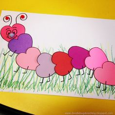 Cute Caterpillar could use for valentine's day craft