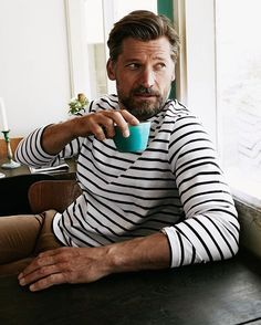 Actor Nikolaj Coster-Waldau is photographed at on dossier # Kn Oliver Knauer Mode Masculine, Beautiful Boys, Beautiful People, Nikolaj Coster Waldau, Style Masculin, Jaime Lannister, Photo Portrait, Mans World, Gentleman Style