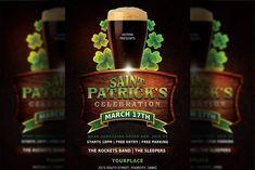 Party Flyer, Restaurant Flyer, Promotional Flyers, Print Templates, Art Logo, Flyer Template, St Patricks Day, Club Flyers, Layouts