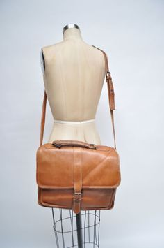 vintage leather bag satchel ipad case by goodbyeheartwoman on Etsy