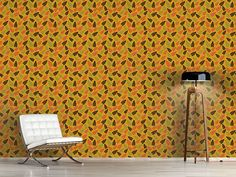 Design #Tapete Herbstblatt Überall Warm Colors, Surface Design, Autumn, Curtains, Patterns, Inspiration, Home Decor, Self Adhesive Wallpaper, Fall Leaves
