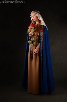 Medieval cloak LARP clothing Women's Renaissance costume Elven wedding cape Elf cosplay Ren faire and historical costume Medieval Cloak, Medieval Clothing, Gypsy Clothing, Vintage Clothing, Costume Renaissance, Medieval Costume, Historical Costume, Historical Clothing, Woolen Dresses