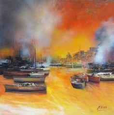"Saatchi Art Artist Andres Vivo; Painting, ""4344 BLOODY NOON"" #art"