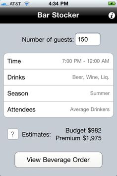 There's an app to calculate how much liquor you need to stock for your guests.