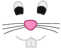 easter bunny patterns | Easter Bunny Face With Teeth Applique Design For Embroidery... review ...