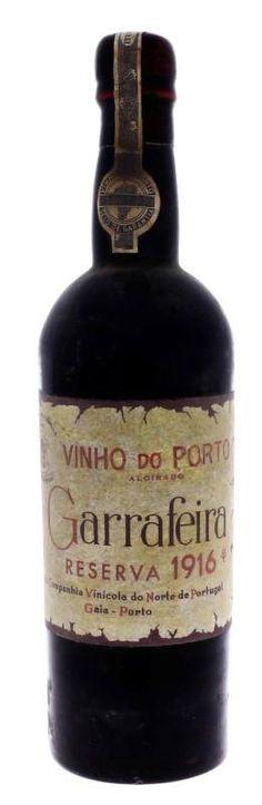 Garrafa de Vinho do Porto, Real Companhia Vinícola, Garrafeira, Reserva, Colheita 1916, Aloirado, Real Companhia Vinícola do Norte de Portugal, Porto