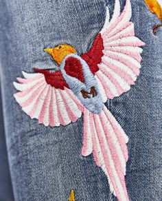 Image 8 of THE SKINNY JEANS WITH EMBROIDERY from Zara