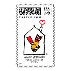 Ronald McDonald Hands Stamps. This is customizable to put a personal touch on your mail. Add your photos or text to design your own stamp that can be sent through standard U.S. Mail. Just click the image to try it out!