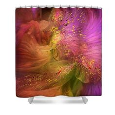 Orchid Moods 2 Shower Curtain by Carol Cavalaris