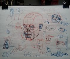 Head construction demo putting it all together #art #head #construction…